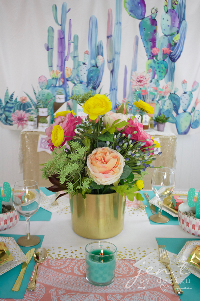 Succulent Bridal Shower with Cricut, Martha Stewart, and Michaels - Jen T by Design #ad, #CricutMarthaStewart, #MadeWithMichaels #CricutMade #Cricut