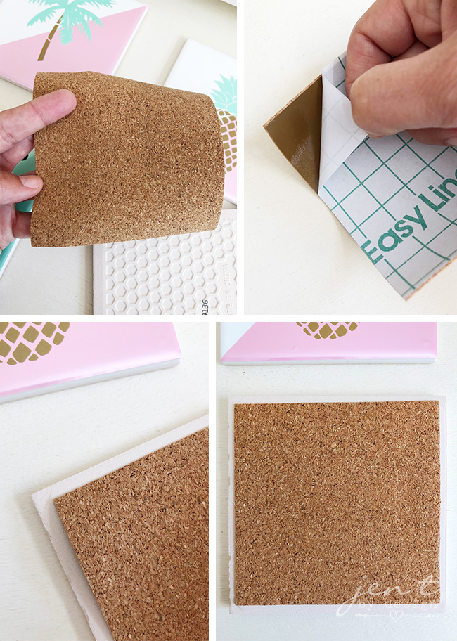 DIY Tile Coasters - Jen T by Design #ad #CricutMarthaStewart #MadeWithMichaels #CricutMade #Cricut