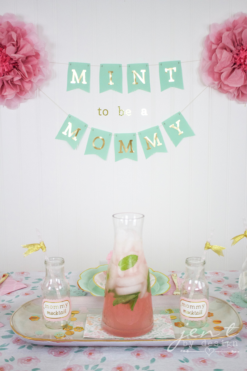 Mint to Be Baby Shower - Jen T by Design #ad #CricutMarthaStewart #MadeWithMichaels #CricutMade #Cricut