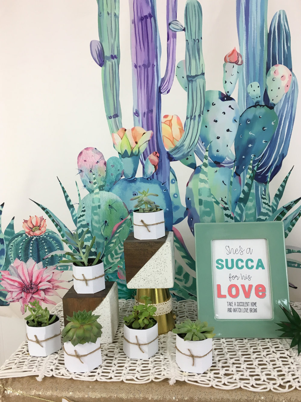 Succulent Bridal Shower