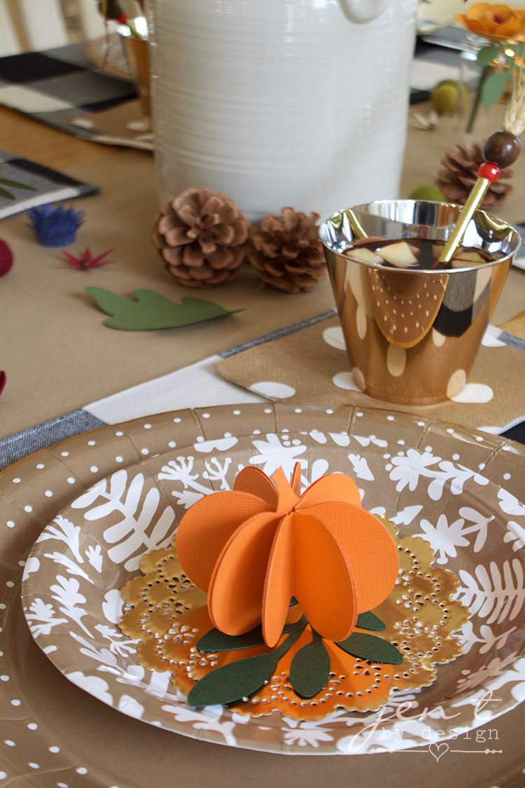 DIY Thanksgiving Table Decorations - Jen T by Design #ad #CricutMarthaStewart #MadeWithMichaels #CricutMade #Cricut