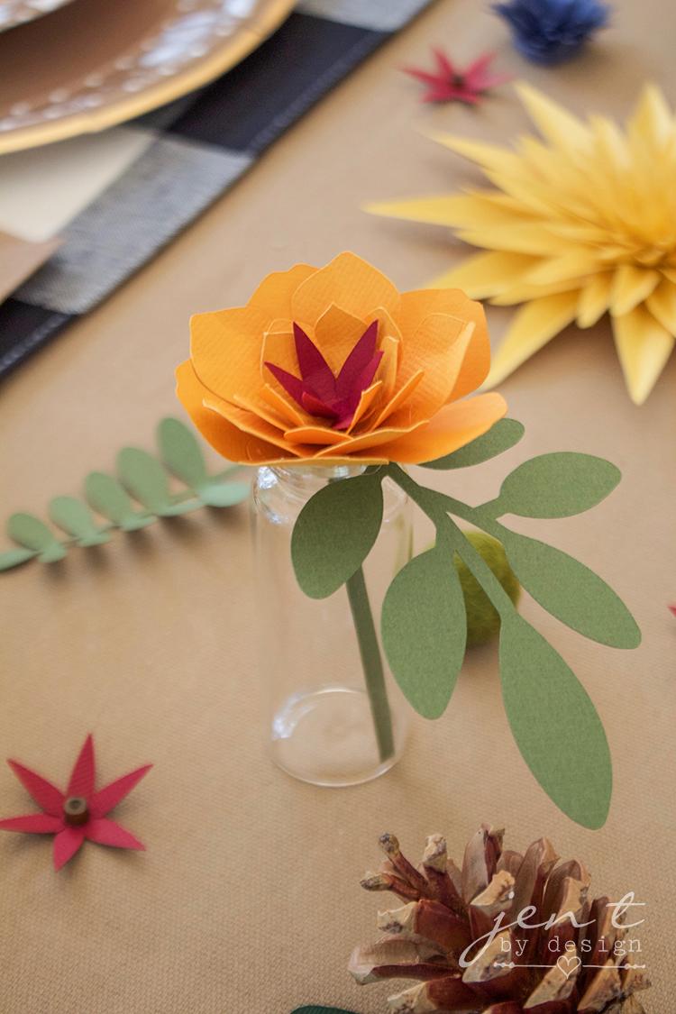 DIY Paper Flowers with Cricut #ad #CricutMarthaStewart #MadeWithMichaels #CricutMade #Cricut