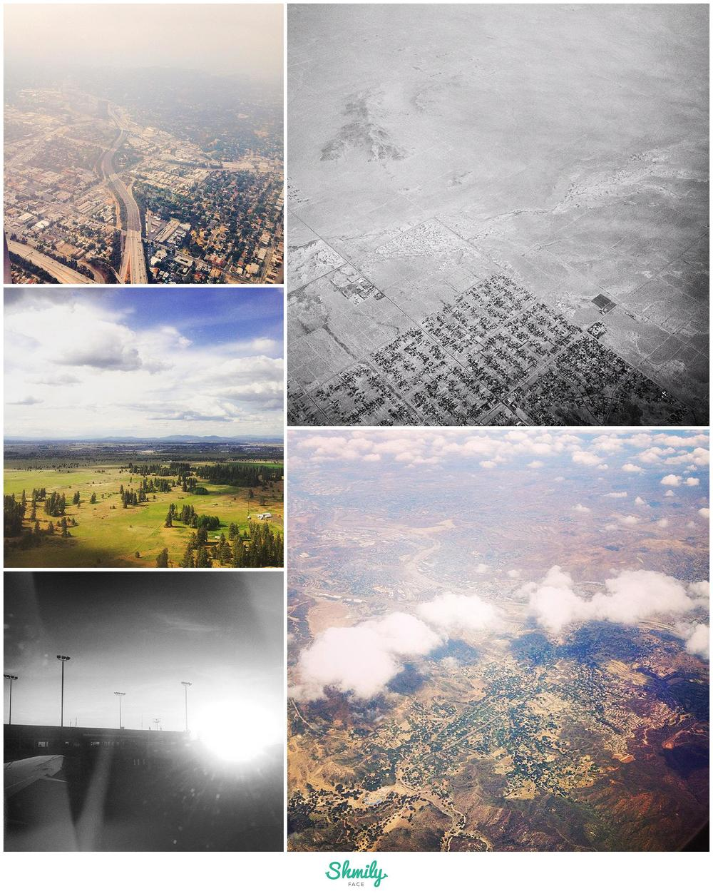 Some of the shots I got while being squished against the airplane window during my travels these last few weeks.