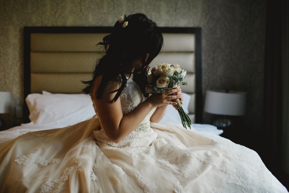 Los Angeles California Hotel Wedding Portrait
