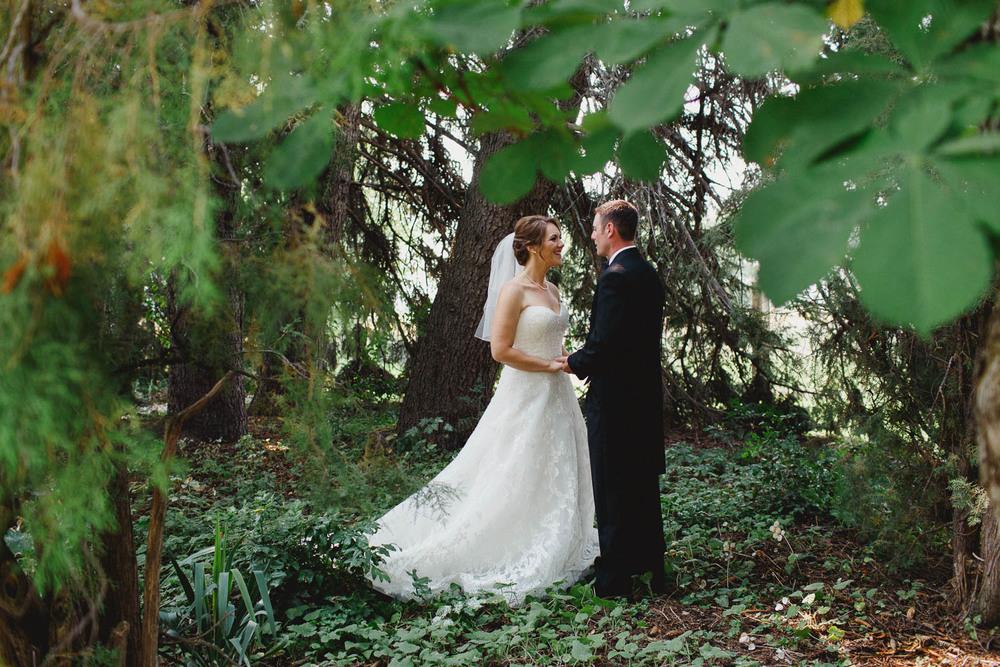 Intimate Backyard Wedding Portrait