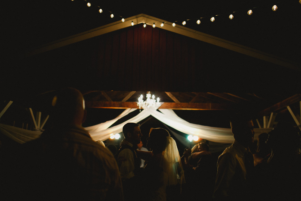 Intimate Dance Rustic Wedding Otis Orchards