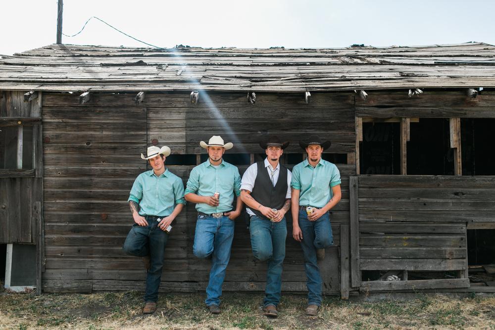 Country Wedding Groomsmen in Spokane Washington