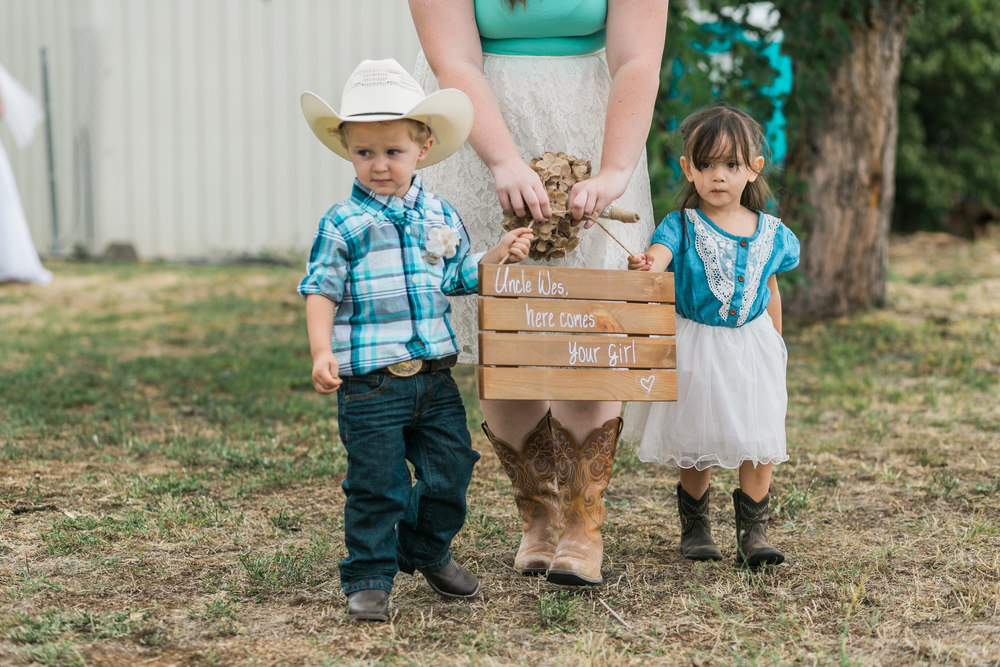 Cowboy and Cowgirl Wedding Party Meeting