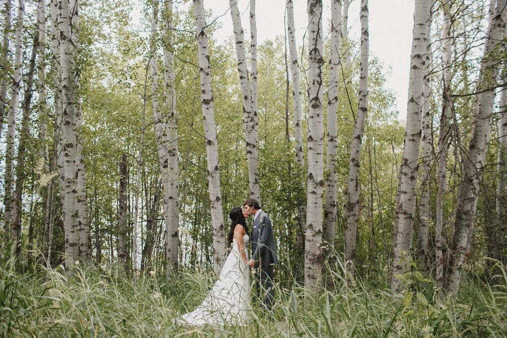 Couple Portrait in Aspen Grove, Deer Park Washington