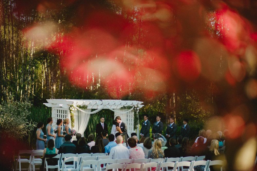 Aspen Grove Wedding at Sunset