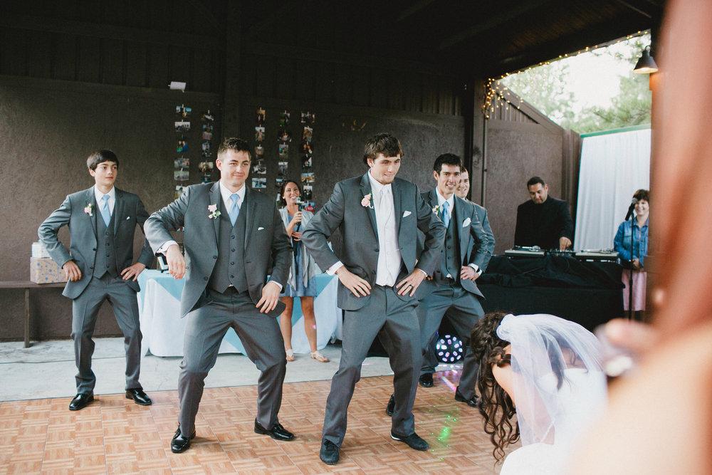 Surprise First Dance at Aspen Grove Wedding