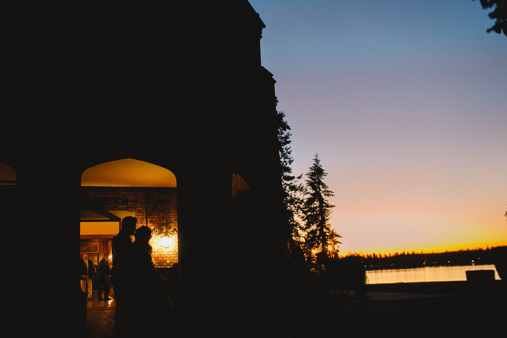 Silhouette Shot at Thornwood Castle at Sunset