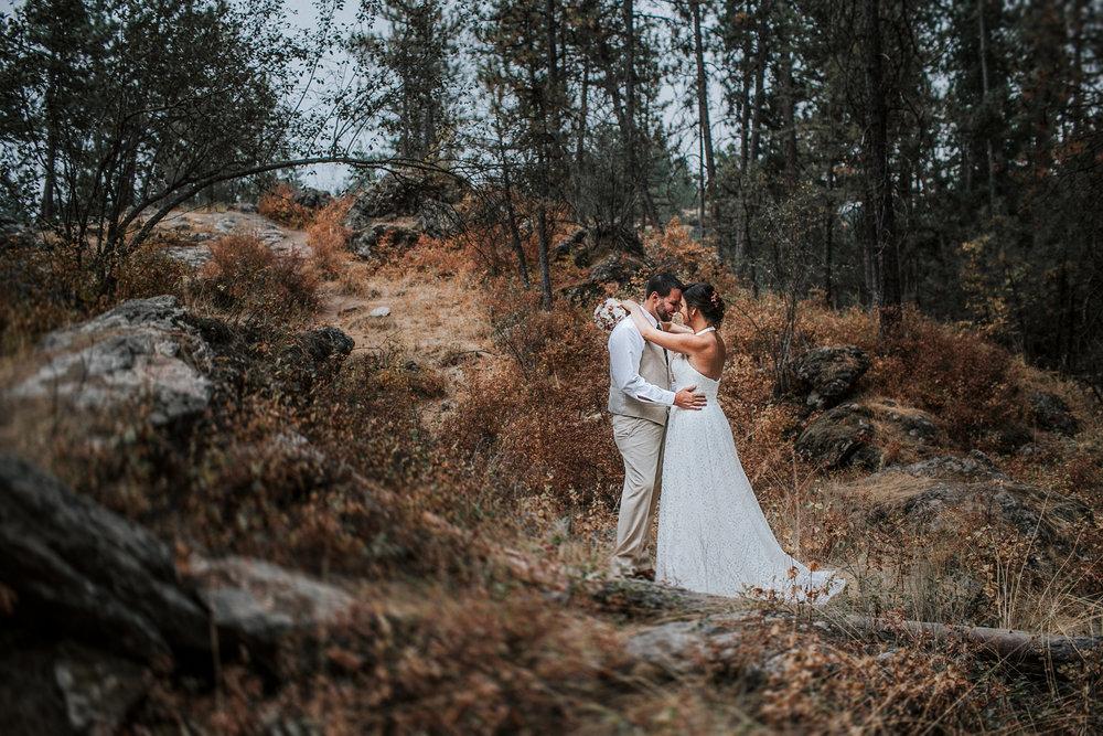 Idaho wedding forest wedding fall themed