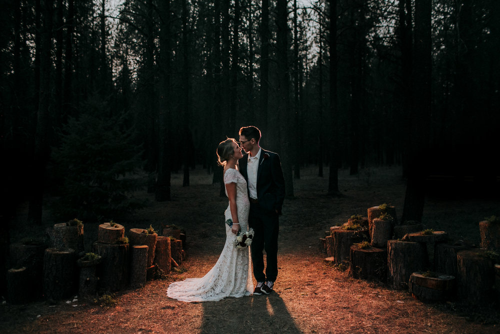 forest themed wedding foxwood house couple kissing