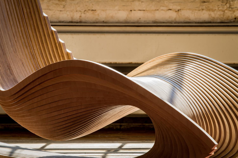Plywood rocking chair - The Diwani Chair