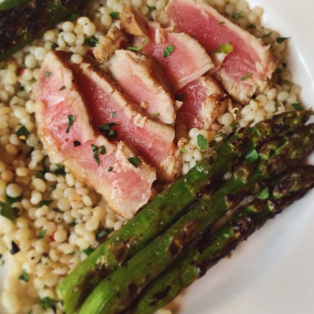 coriander encrusted ahi at radici seattle