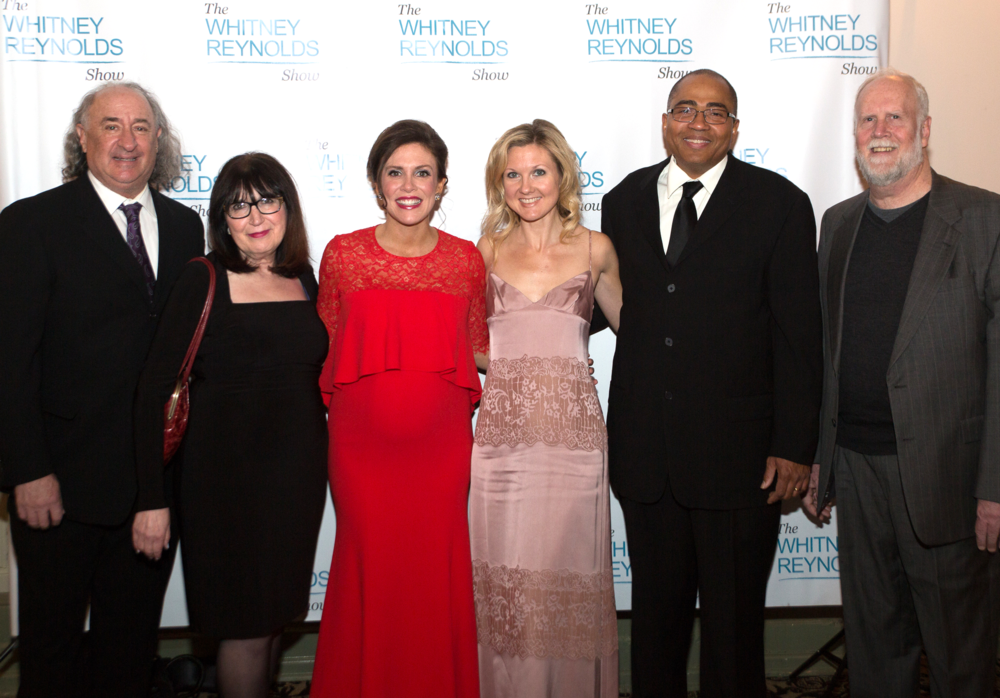 My Team (Left- Camera Art Cohen, Supervising Producer Sheryl Rosen, Executive Producer/ Host ME-Whitney Reynolds, PR Janiece Noel, Director Gary Brook, Assistant TD Dennis King). PHOTO CREDIT- RAY THOMPSON/ DRESS- Teri Jon Dresses
