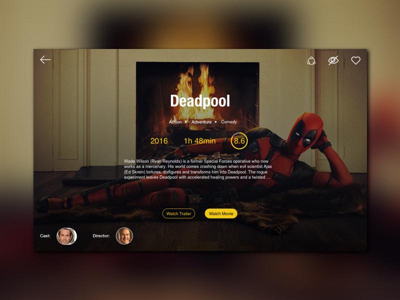 Movie streaming concept Design: Sketch
