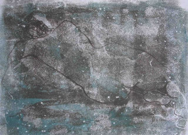 Celestial , unique monotype, 2010