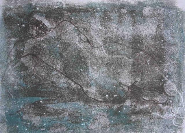 Celestial , unique monotype, 2010