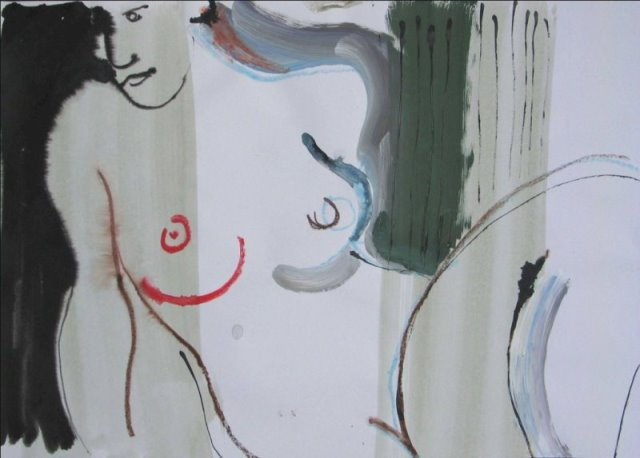 Moving Figure I , mixed media, 2009