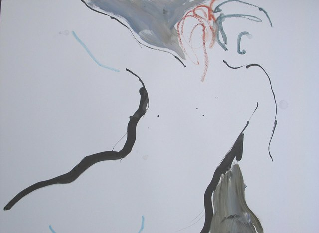 Moving Figure II , mixed media, 2009