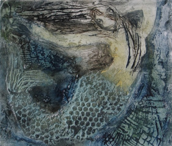 Siren , collagraph, 2010