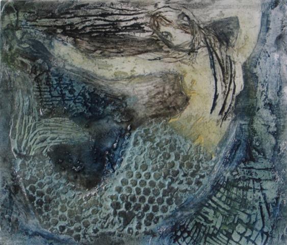 Siren , collagraph, 2010