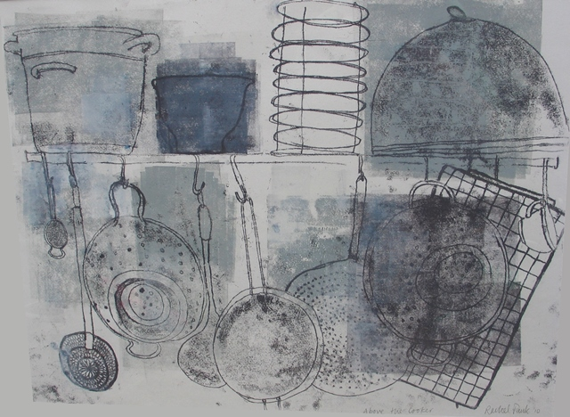 Above the cooker , mixed media, 2010
