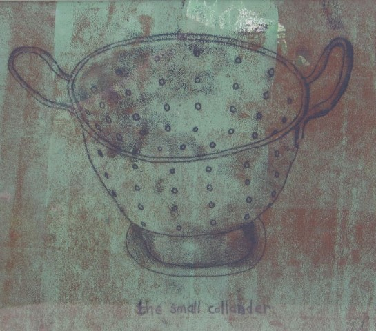 The Small Colander , mixed media, 2010