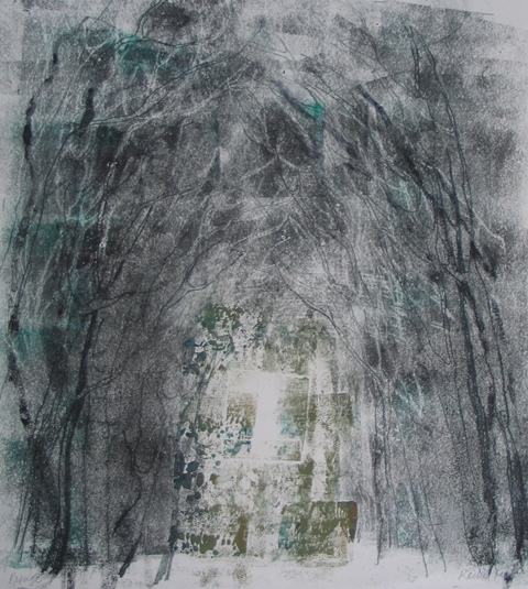 Refuge , unique monotype, 2010