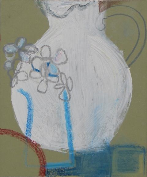 Studio Jug (Porthmeor) , acrylic and watercolour on board, 2013