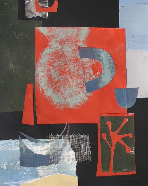 Still life with Fishing Boat, mixed media, 2012