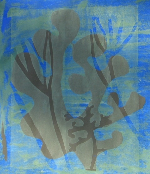 Seaweed form lll , unique silkscreen 2012
