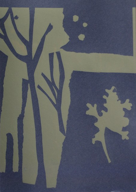 Seaweed form ll , unique silkscreen, 2012