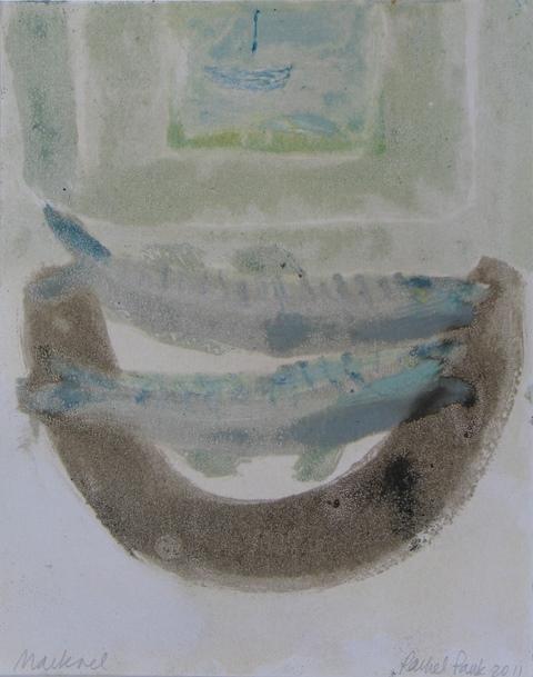 Mackerel, Penzance, unique monotype, 2011