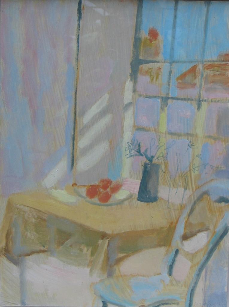 Sunlit Window (Porthmeor studio)St Ives  2012, oil on board copy