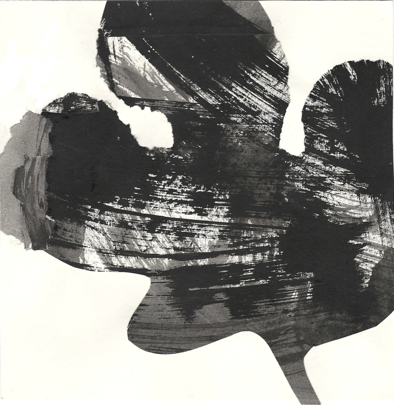 Leaf form,  Indian ink, 2012