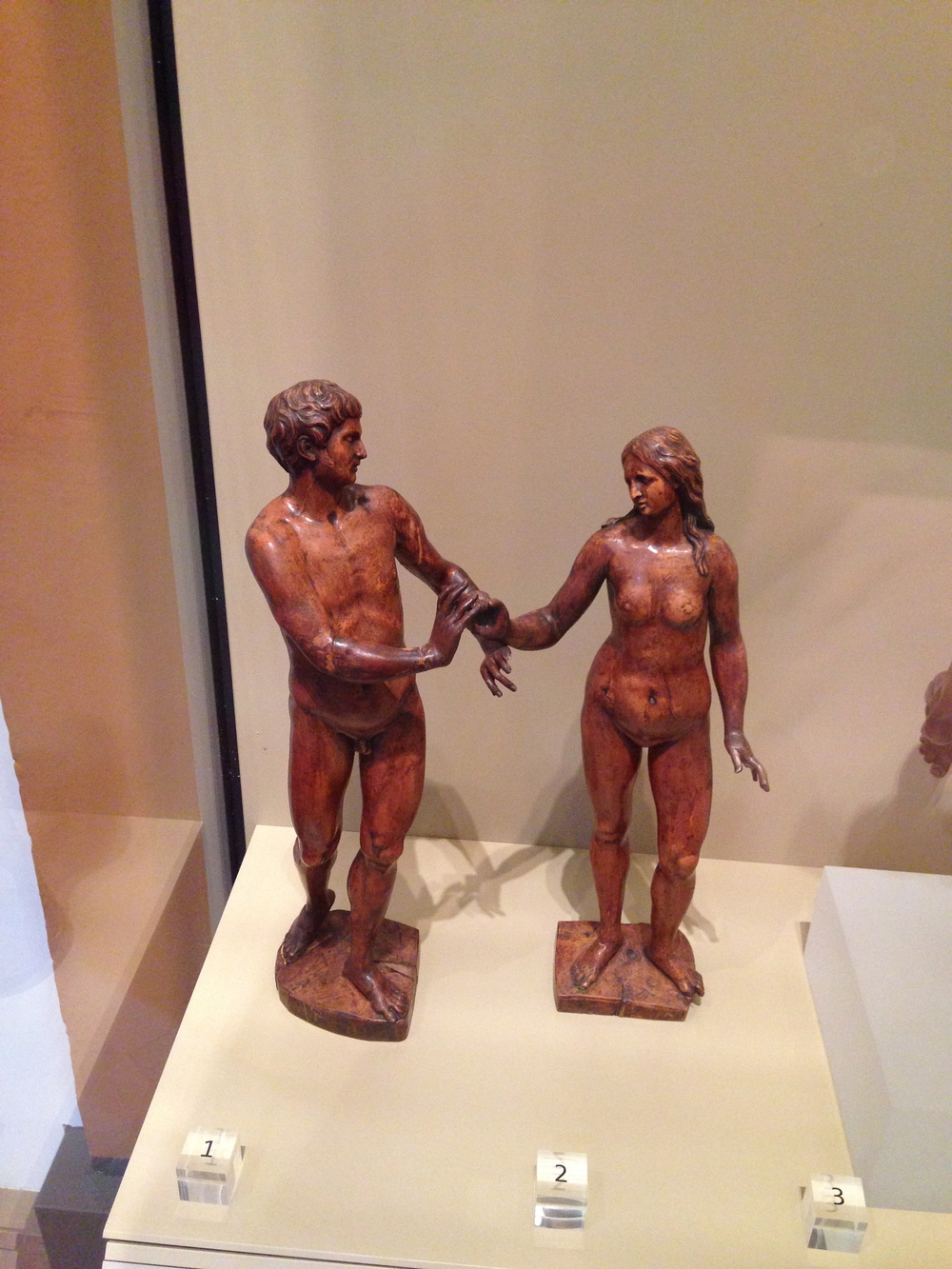 Even Adam and Eve aren't immune to lifting one hip and turning out their feet!