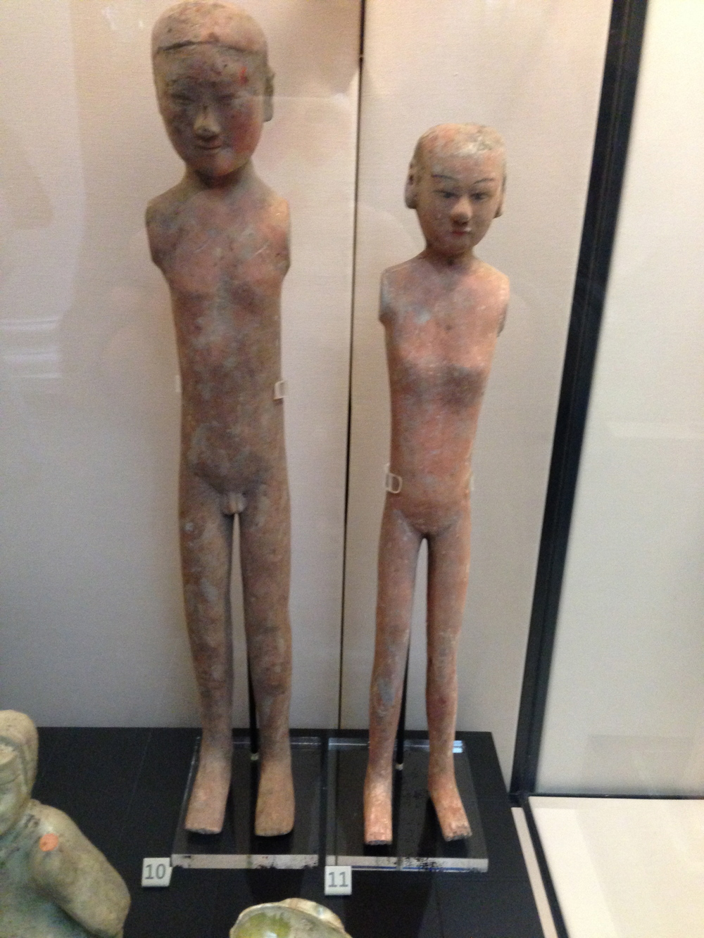 These ancient sculptures depict neutral stance once again-these are Chinese, circa 500 BCE!