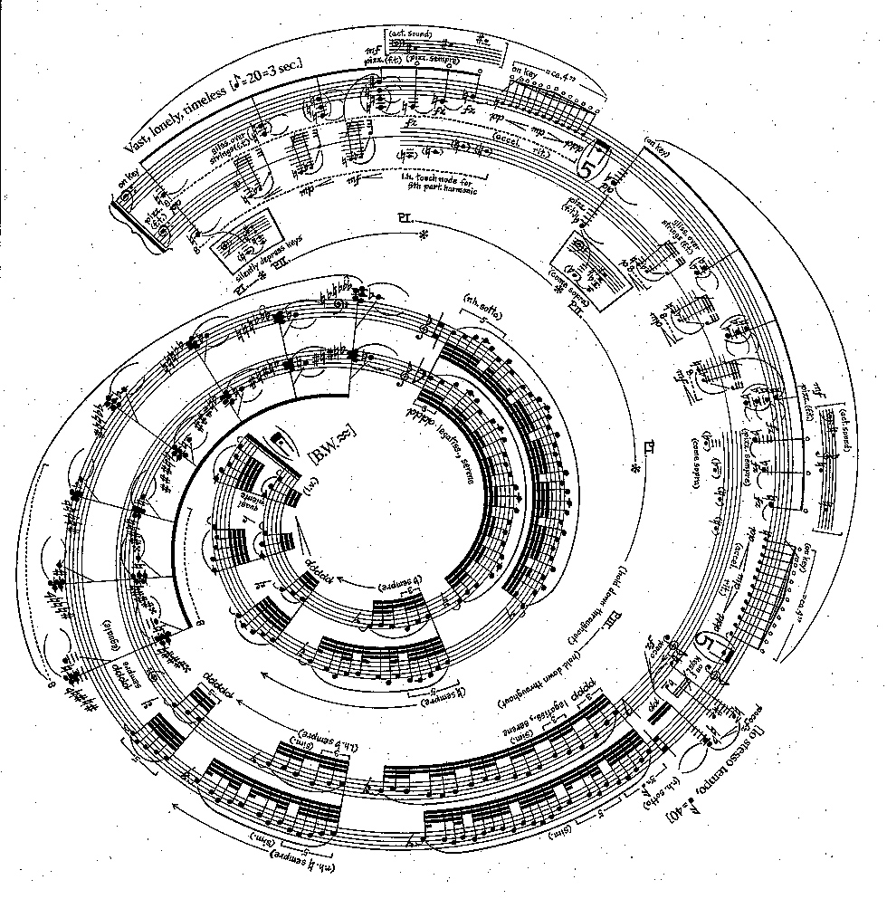 "Image from George Crumb's ""Makrokosmos"""