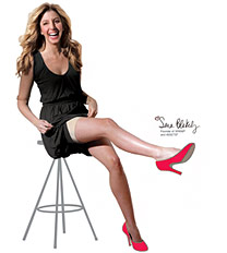 Sara Blakely, owner of Spanx, rocking the garments and the heels.  I feel pity for her innards.