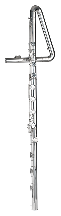 Yes, this is real. It's a contrabass flute.