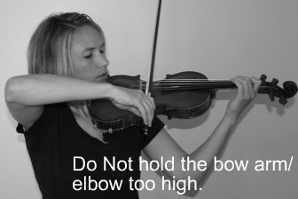 Younger students might develop some wacky elbow habits, which should be corrected ASAP to prevent long term movement distortion!