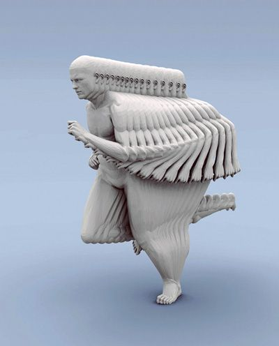 Kinetic motion sculpture by  Peter Jansens.