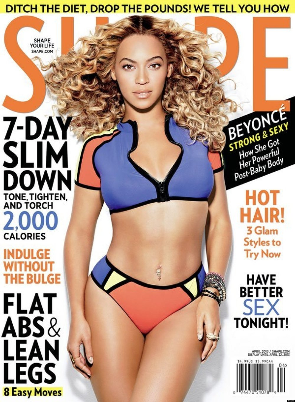 I love Beyonce, but I hate bogus slogans that suggest that a certain move will give you flat abs/lean legs, and lean down in a week.
