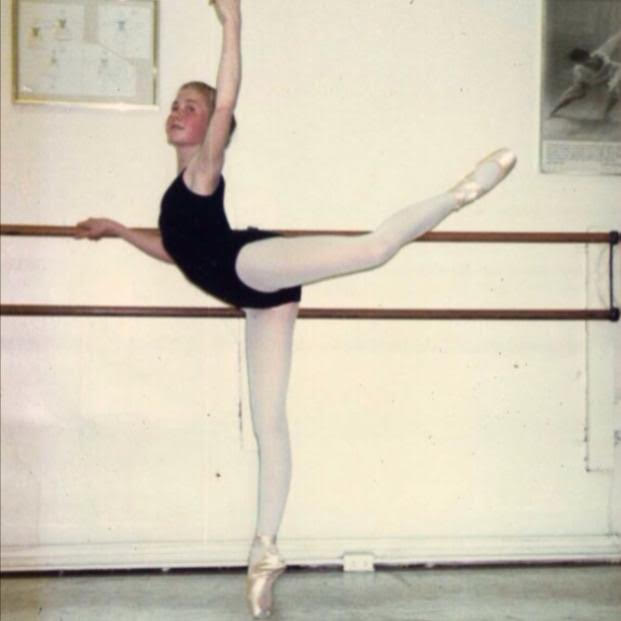 Cicely here in the early days of studying ballet