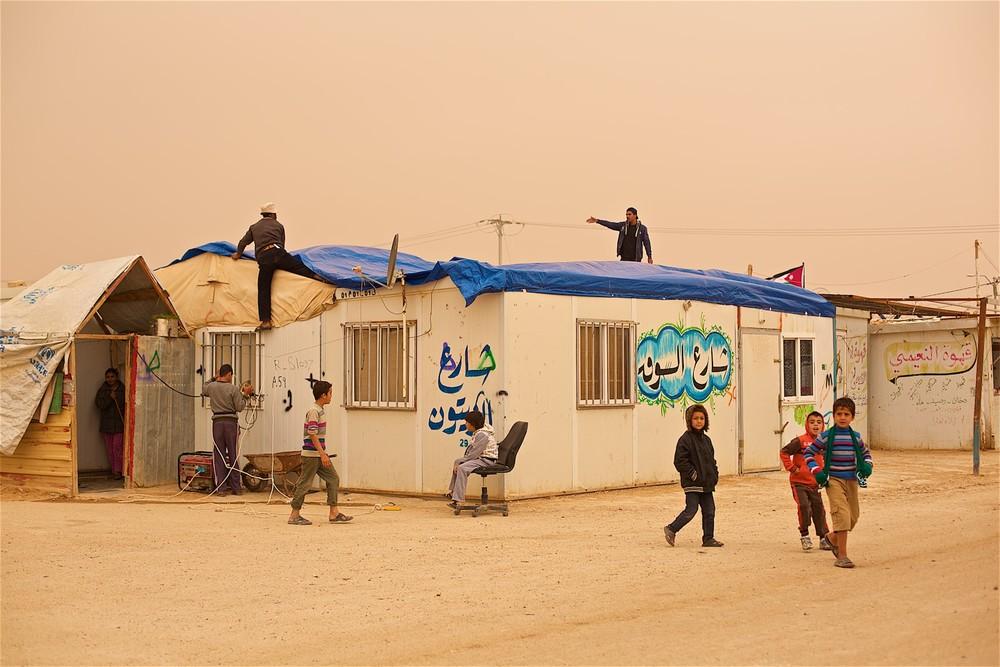 UNHCR karavany často zatekajú. Zaatari, Jordánsko (photo: Denis Bosnic)