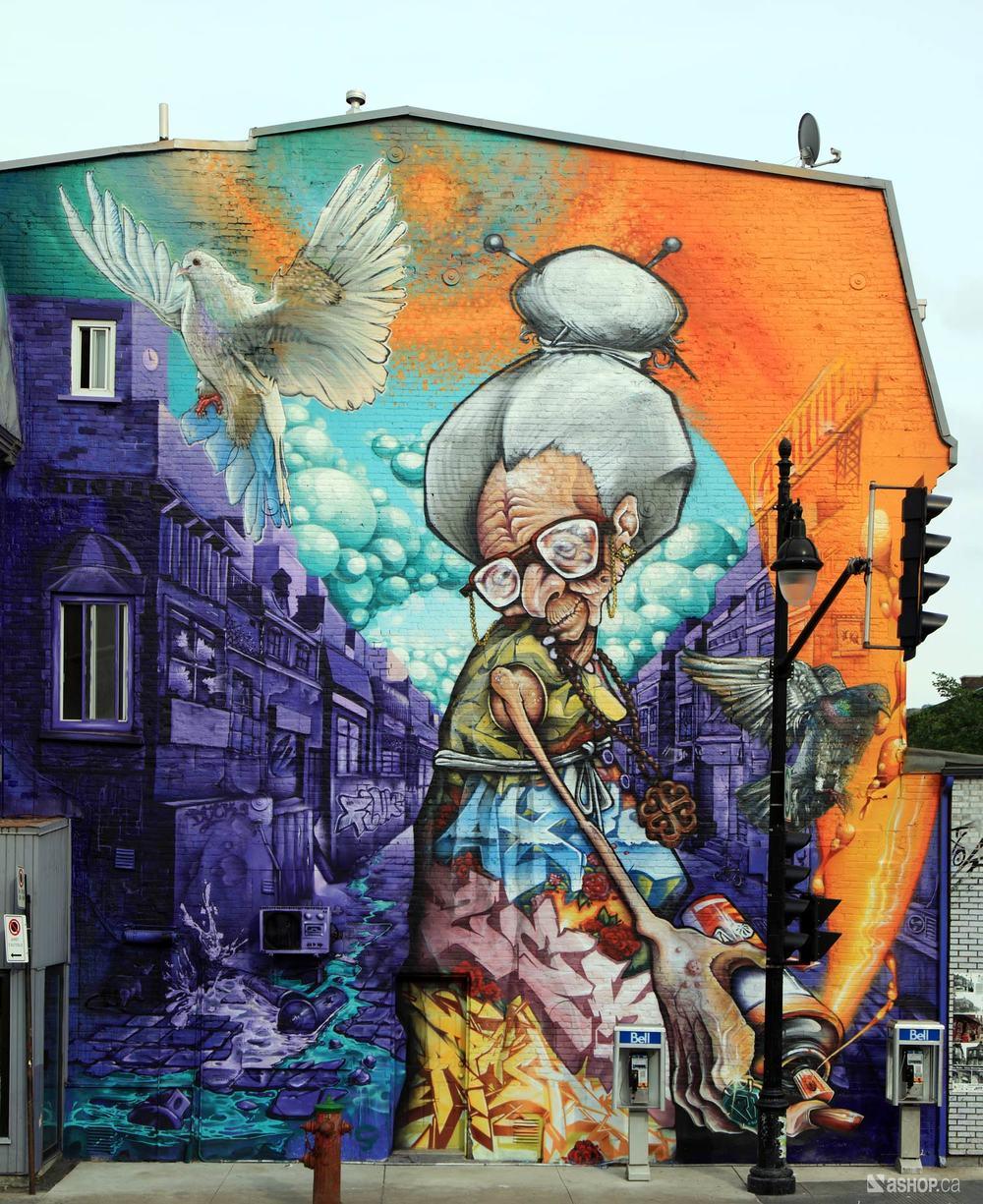 Graffiti art for sale canada - Granny 28 Jpg