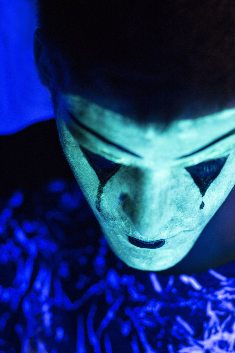 - Using UV make up and black lights. Theme: MimeModel: Chance Mclaren Makeup artist: Talitha Vanzo http://hypercardiac.wixsite.com/tvsmakeup/about